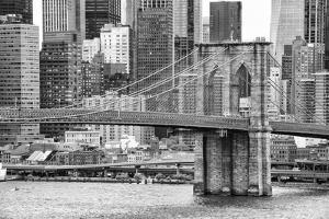 Black Manhattan Collection - Brooklyn Bridge by Philippe Hugonnard
