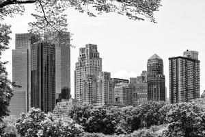 Black Manhattan Collection - Central Park Buildings by Philippe Hugonnard