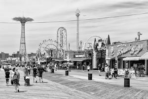Black Manhattan Collection - Coney Island Boardwalk II by Philippe Hugonnard