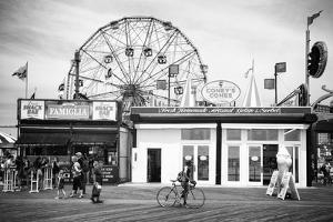 Black Manhattan Collection - Coney Island Boardwalk by Philippe Hugonnard