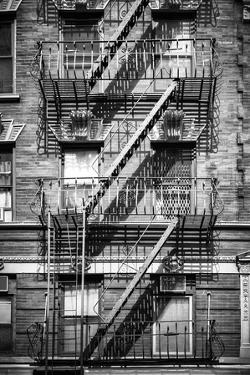 Black Manhattan Collection - Facade with Fire Escape by Philippe Hugonnard