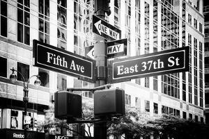 Black Manhattan Collection - Fifth Avenue Sign by Philippe Hugonnard