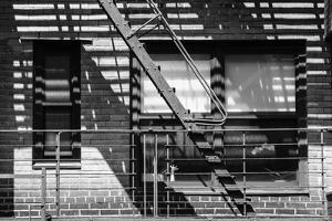 Black Manhattan Collection - Fire Escape I by Philippe Hugonnard