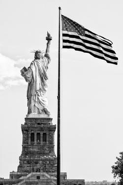 Black Manhattan Collection - Liberty American Flag by Philippe Hugonnard
