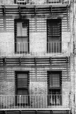 Black Manhattan Collection - NY Building Facade by Philippe Hugonnard