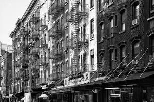 Black Manhattan Collection - NYC Chinatown Buildings by Philippe Hugonnard
