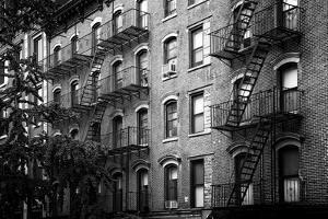 Black Manhattan Collection - Old Brick Building by Philippe Hugonnard