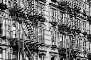 Black Manhattan Collection - Soho Building Facade by Philippe Hugonnard