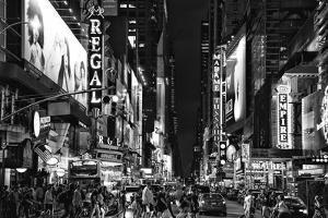Black Manhattan Collection - Times Square by Night by Philippe Hugonnard