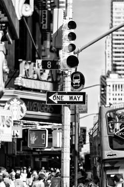 Black Manhattan Collection - Traffic Light Times Square by Philippe Hugonnard