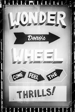Black Manhattan Collection - Vintage Wonder Wheel Sign by Philippe Hugonnard
