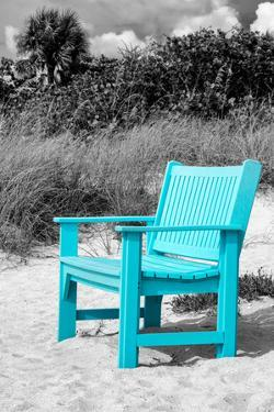 Blue Chair abandoned on the Beach by Philippe Hugonnard