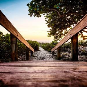 Boardwalk on the Beach at Sunset - Florida by Philippe Hugonnard
