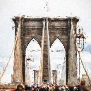 Brooklyn Bridge - In the Style of Oil Painting by Philippe Hugonnard