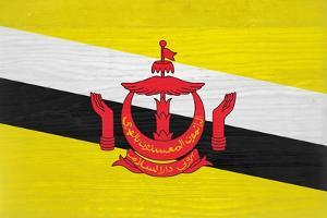 Brunei Flag Design with Wood Patterning - Flags of the World Series by Philippe Hugonnard