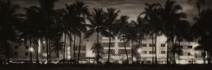 Buildings Lit Up at Dusk - Ocean Drive - Miami Beach by Philippe Hugonnard