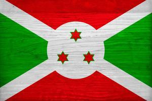Burundi Flag Design with Wood Patterning - Flags of the World Series by Philippe Hugonnard