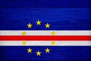 Cabo Verde Flag Design with Wood Patterning - Flags of the World Series by Philippe Hugonnard