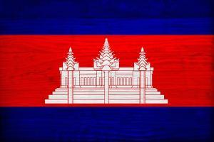 Cambodia Flag Design with Wood Patterning - Flags of the World Series by Philippe Hugonnard