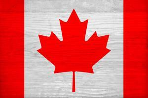 Canada Flag Design with Wood Patterning - Flags of the World Series by Philippe Hugonnard