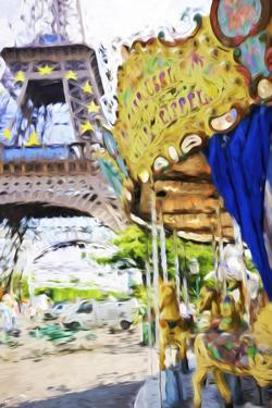 Carrousel Eiffel - In the Style of Oil Painting by Philippe Hugonnard