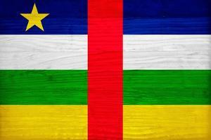 Central African Republic Flag Design with Wood Patterning - Flags of the World Series by Philippe Hugonnard