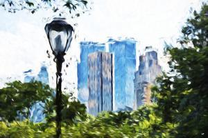 Central Park Buildings IV - In the Style of Oil Painting by Philippe Hugonnard