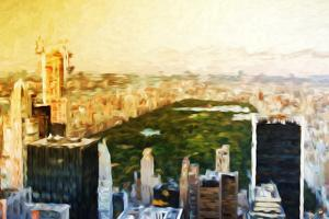 Central Park Skyline II - In the Style of Oil Painting by Philippe Hugonnard