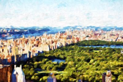 Central Park Skyline III - In the Style of Oil Painting by Philippe Hugonnard