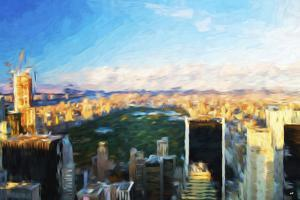 Central Park Skyline - In the Style of Oil Painting by Philippe Hugonnard