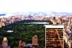 Central Park Sunset by Philippe Hugonnard