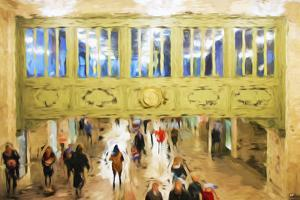 Central Station - In the Style of Oil Painting by Philippe Hugonnard
