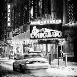 Chicago the Musical - Ambassador Theatre by Winter Night at Times Square by Philippe Hugonnard