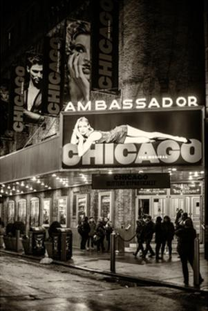 Chicago the Musical - the Ambassador Theatre in Times Square by Night by Philippe Hugonnard