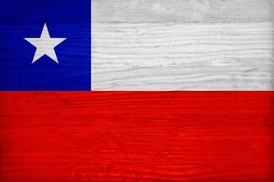 Chile Flag Design with Wood Patterning - Flags of the World Series by Philippe Hugonnard