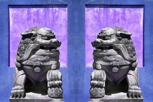 China 10MKm2 Collection - Asian Sculpture with two Lions by Philippe Hugonnard