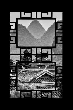 China 10MKm2 Collection - Asian Window - Chinese Buddhist Temple with Karst Mountains by Philippe Hugonnard