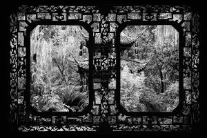 China 10MKm2 Collection - Asian Window - Chinese Pavilion in Garden by Philippe Hugonnard