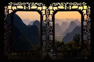 China 10MKm2 Collection - Asian Window - Karst Mountains at Sunset - Yangshuo by Philippe Hugonnard