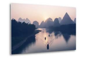 China 10MKm2 Collection - Beautiful Scenery of Yangshuo with Karst Mountains at Pastel Sunrise by Philippe Hugonnard