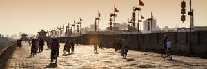 China 10MKm2 Collection - Bike Ride on the Ramparts of the City at Sunset - Xi'an City by Philippe Hugonnard