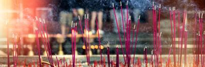China 10MKm2 Collection - Buddhist Temple with Incense Burning by Philippe Hugonnard
