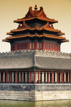 China 10MKm2 Collection - Chinese Architecture at Sunset - Forbidden City - Beijing by Philippe Hugonnard