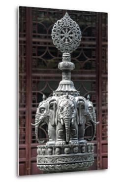 China 10MKm2 Collection - Detail Buddhist Temple - Elephant Statue by Philippe Hugonnard