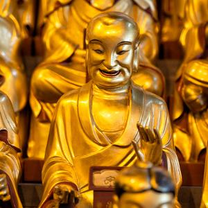 China 10MKm2 Collection - Gold Buddhist Statue in Longhua Temple by Philippe Hugonnard