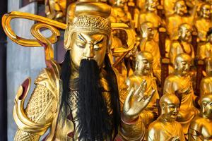 China 10MKm2 Collection - Gold Buddhist Statues in Longhua Temple by Philippe Hugonnard