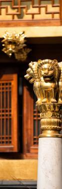 China 10MKm2 Collection - Golden Chinese Lion Statue Jing An Temple - Shanghai by Philippe Hugonnard