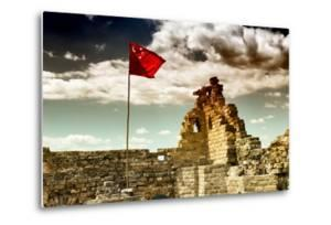 China 10MKm2 Collection - Great Wall with the Chinise Flag by Philippe Hugonnard