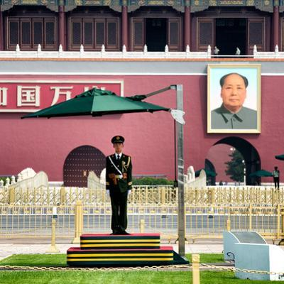 China 10MKm2 Collection - Guard in the Tiananmen Square - Beijing by Philippe Hugonnard