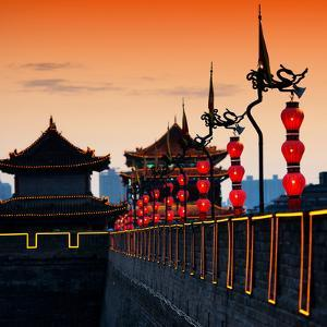 China 10MKm2 Collection - Illumination Night Ramparts - Xi'an City by Philippe Hugonnard